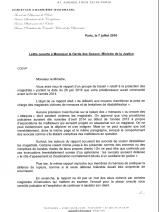 Lettre ouverte à Monsieur le Garde des Sceaux, Ministre de la Justice