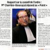Rapport sur le conseil de l'ordre : Me Charrière-Bournazel répond au «Point»
